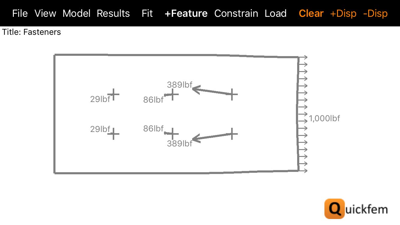 Quickfem Engineering App Bolt Loads