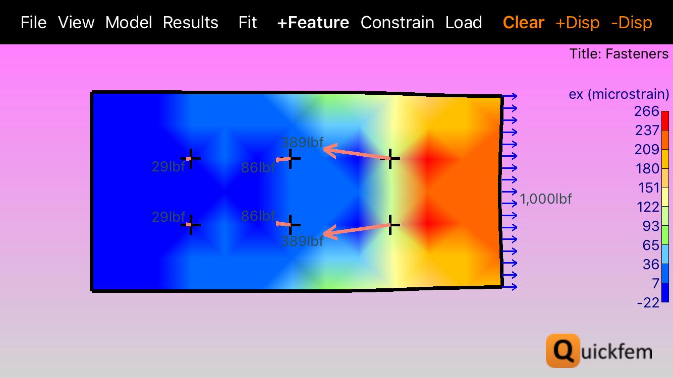 Quickfem FEA App Pink Background Fringe