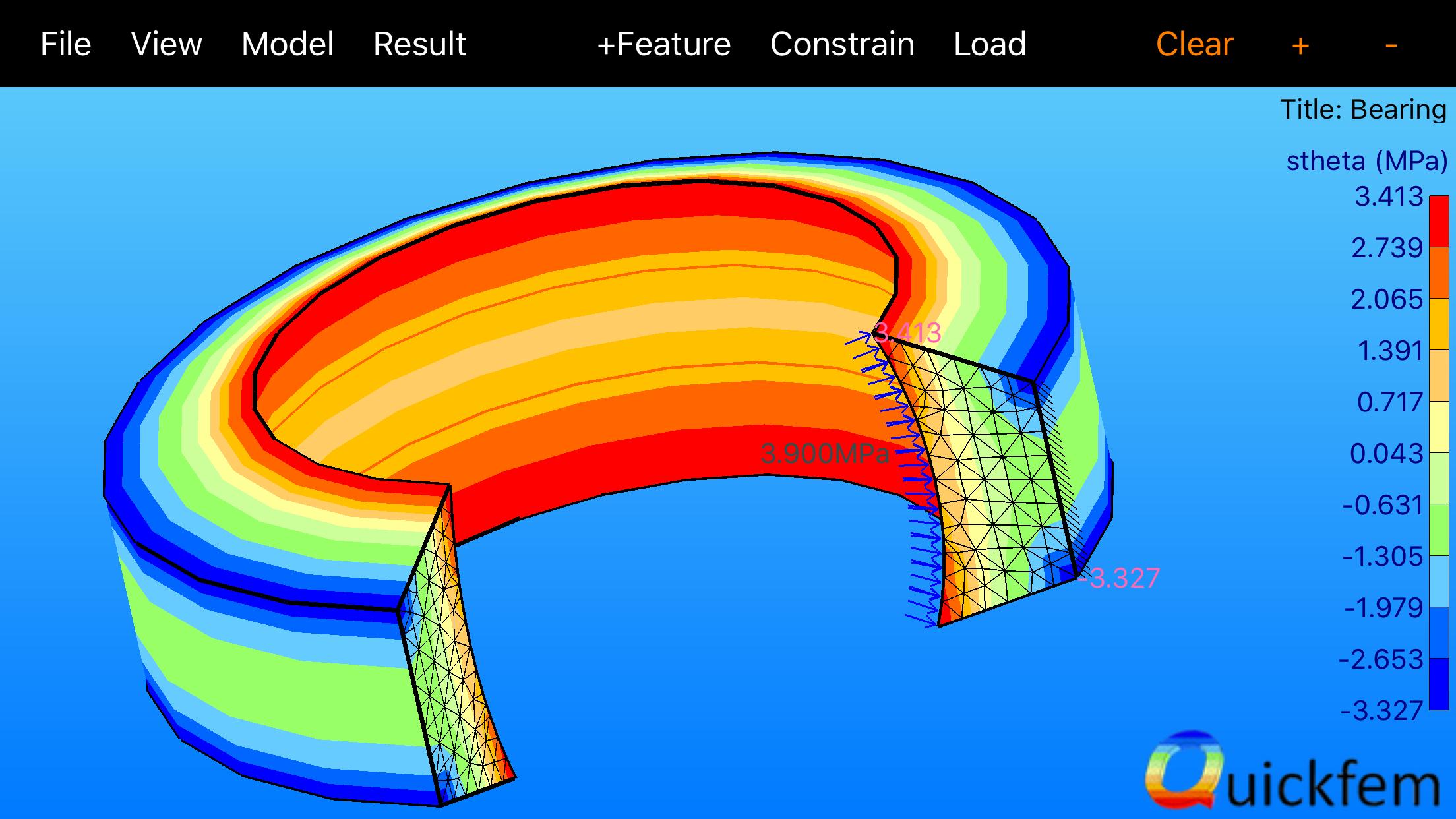 Quickfem Axisymmetric Bearing Ring